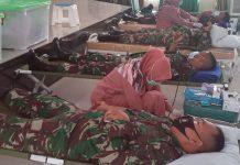 Kegiatan donor darah di Makorem 033/WP (Suryakepri.com)