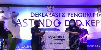 Asosiasi Travel Agent Indonesia (Astindo) Kepulauan Riau, melantik kepengurusan baru yang dilaksanakan di Sahid Hotel, Batam Center, Senin (21/12/2020) siang