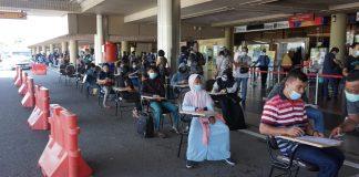 Bandara Hang Nadim Kota Batam, Selasa (22/12/20)