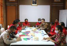 Polres Bintan menyambut kedatangan Forum Kerukunan Umat Beragama (FKUB) Bintan di Ruang Rapat Utama Polres Bintan
