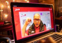 Direktur Utama Telkomsel Setyanto Hantoro saat memaparkan pemerataan akses broadband di wilayah 3T oleh Telkomsel secara virtual di Jakarta.