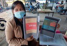 Kuasa Hukum PT BIS BUMD Bintan Cholderia Sitinjak saat ditemui di kedai kopi depan Pengadilan Negeri Tanjungpinang (Suryakepri.com/Muhammad Bunga Ashab)