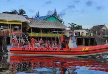 Basarnas Tanjungpinang saat menguji coba alat baru RIB (Suryakepri.com/Dok Basarnas Tanjungpinang)