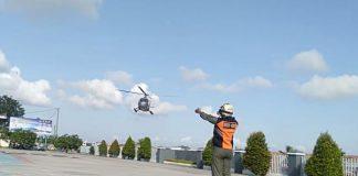 Guskamla Koarmada I melaksanakan pengamatan udara langsung di Selat Singapura