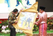 Pjs. Gubernur Bahtiar Baharuddin menghadiri acara ramah tamah dengan pejabat dan pegawai di lingkungan Pemerintah Provinsi Kepulauan Riau sempena berakhirnya masa tugas sebagai Pjs. Gubernur Kepulauan Riau di Aula Wan Sri Beni Dompak, Tanjungpinang, Jumat (04/12).
