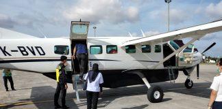 Pesawat Susi Air siap-siap berangkat angkut logistik pemilu di Kecamatan Tambelan di Bandara Raja Haji Fisabilillah Tanjungpinang (Suryakepri.com/ist)