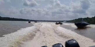 foto kapal Patroli laut Bea Cukai Kepri dan Tembilahan