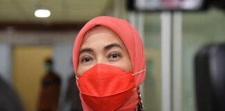 Anggota Komisi IX DPR RI Aliyah Mustika Ilham di sRapat Kerja dan RDP Komisi IX DPR RI dengan Kemenkes, Badan Pengawas Obat dan Makanan (BPOM), dan Bio Farma di Gedung Nusantara I, Senayan, Jakarta, Selasa (12/1/2021). (Foto :Humas DPR RI)