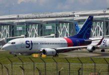 Pesawat Sriwijaya Air SJ-182 yang jatuh setelah hanya empat menit lepas landas dari Bandara Soekarno-Hatta, Cengkareng, Sabtu (9/1/2021). Pesawat ini hendak terbang menuju Bandara Supadio, Pontianak, Kalbar. (Foto dari Twitter)