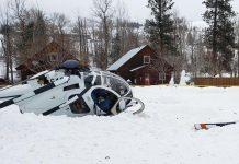 Helikopter Hughes 500D (369D) No Registrasi N8612F milik Helicopter HiLine, berisi dua orang jatuh di dekat Winthorp Rink, Winthorp, Okanogan County, Washington pada pada pukul 12.30 waktu setempat. (Foto: ifiberone.com)