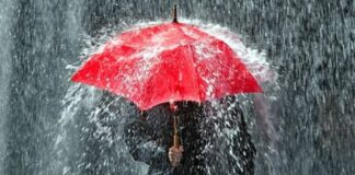 Ilustrasi Hujan Lebat.