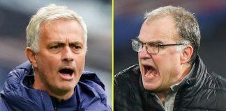 Jose Mourinho dan Marcelo Bielsa (Foto dari talkSPORT)
