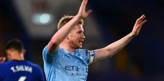 Kapten dan gelandang Manchester City Kevin De Bruyne dimainkan sebagai striker, tampil gemilang dengan mencetak satu gol dan satu assist dalam kemenangan 3-1 atas Chelsea di Stamford Bridge, Minggu (3/1/2021) atau Senin dinihari WIB.(Foto: Premierleague.com)
