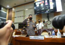 Calon Kapolri Komjen Listyo Sigit Prabowo saat menjalani uji kepatutan dan kelayakan di Komisi III DPR RI, Rabu (20/1/2021). (Foto: Humas Polri)