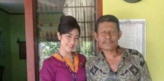 Mia Wadu dan Ayahnya, Zet Wadu. (Foto dari Bali Tribune)