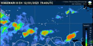 Peringatan Dini Cuaca Nusa Tenggara Barat - NTB dari BMKG.(Grafis: BMKG)