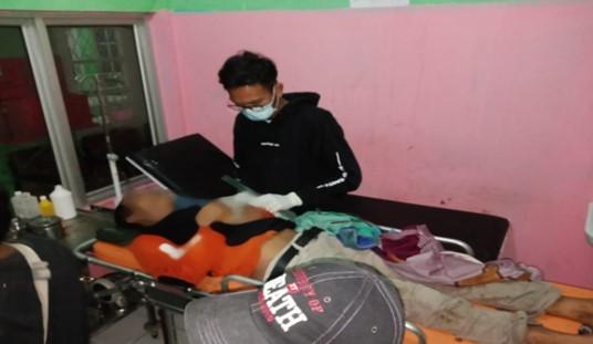Jenazah Dedi (40), seorang anggota Komunitas Mancing Mania, yang meninggal di perjalanan saat hendak pergi memancing bersama temannya di Sungai Kiti, Desa Fajar Bulan, Kecamatan Lengkiti, Kabupaten OKU, Selasa (12/1/2021).