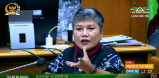Anggota Komisi IX DPR RI Dr Ribka Tjiptaning Proletariyati menolak vaksin Covid-19. (Tangkapan Layar Video Sidang)