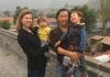 Huihan Lie bersama istri dan anak-anaknya. (Foto: Istimewa/SCMP)