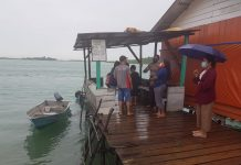 Polresta Barelang menggelar patroli laut, Senin (04/01/2021)