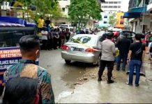 Pengemudi mobil merk Toyota Altis plat polisi BP 1175 HZ mendadak meninggal dunia di Komplek Tanjung Pantun, Jodoh, Batuampar, Kamis (7/1/2021)