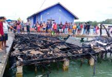 Satu rumah hangus terbakar di Teluk Keriting, Tanjungpinang (Suryakepri.com/Muhammad Bunga Ashab)