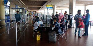 Bandara Hang Nadim Batam, Senin (18/01/2021)