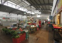 Proses persiapan launching pasar Tim Pengedalian Inflasi Dearah (TPID) 2 di Dreamland terus digesa,