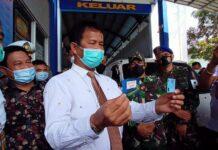 Walikota Batam, Muhammad Rudi meresmikan Bukti Lulus Uji Elektronik (BLUe), yang dilakukan di Kantor Dinas Perhubungan (Dishub) Kota Batam, Kamis (21/1/2021).