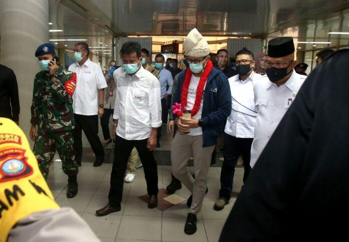 Sandiaga Uno saat tiba di Batam