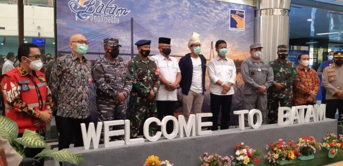 Foto Menteri Pariwisata dan Ekonomi Kreatif (Menparekraf) RI, Sandiaga Salahudin Uno saat kunjungannya, Jumat (22/1/2021) pagi.