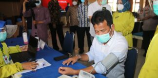 Walikota Batam, Muhammad Rudi, tidak dapat divaksin untuk yang kedua kalinya, Jumat (29/01/2021)