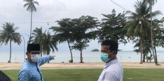 Menteri Pariwisata dan Ekonomi Kreatif, Sandiaga Salahuddin Uno dalam kunjungan kerjanya melihat Pulau Putri, bersama Wali Kota Batam, Muhammad Rudi, Jumat (22/1/2021)