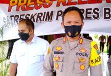 Kapolres Bintan AKBP Bambang Sugihartono dan Kasatreskrim AKP Dwihatmoko Wiroseno saat ditemui di Mapolres Bintan (Suryakepri.com/Muhammad Bunga Ashab)