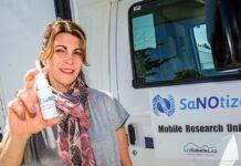 Gilly Regev, CEO dan salah satu pendiri SaNOtize, yang semprotan hidungnya berdasarkan oksida nitrat dapat membunuh virus corona (Times of Israel)