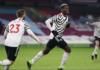 Reaksi gelandang Manchester United Paul Pogba usai mencetak gol ke gawang Burnley di Stadion Turf Moor pada laga Liga Inggris 2020/21. (Foto: Premierleague.com)