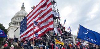 Pendukung Donald Trump mengepung Gedung Capitol di Washington DC, pada Rabu 6 Januari 2021. (Foto: Tayfun Coskun   Agen Anadolu   Getty Images via CNBC)