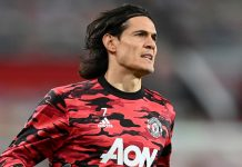 Striker Manchester United Edinson Cavani (Foto dari Sky Sports)