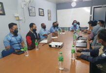 Pertemuan antara Tim Business Development ATB dengan Perumdam Tirta Kepri sebelum tinjauan lapangan dilaksanakan