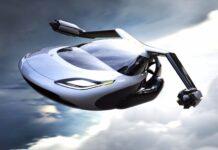 Ilustrasi Mobil Terbang.