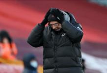 Manajer Liverpool Jurgen Klopp syok setelah timnya takluk 1-4 dari Manchester City di Anfield, Minggu (7/2/2021) atau Senin dinihari waktu Indonesia. (Foto: Premierleague.com)