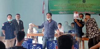 Rusdi (tengah), Ketua Terpilih Pameral periode 2020-2024 saat pemilihan Minggu (31/1/2021). Foto Suryakepri.com/IST