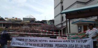 Ex Karyawan Hotel Nagoya Plaza, menuntut untuk dikeluarkan gaji, pesangon dan THR.