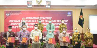 Acara basembang bercerite KPU Bintan (Suryakepri.com/ist)