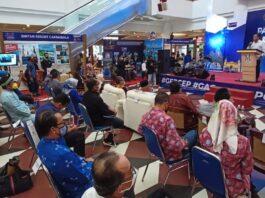 pegelaran pameran destinasi pariwisata yang digelar di Atrium Megamall, Batam Center, Jumat (5/2/2021) sore.