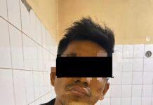 Dani Cater (30), pelaku Curanmor diringkus Jajaran Kepolisian Polsek Batuampar, depan bakso gunung Kec Batu Ampar, Kota Batam, Minggu (7/2/2021) sore.