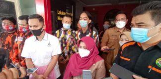 Wali Kota Tanjungpinang Rahma setelah membuat laporan di Mapolres Tanjungpinang (Suryakepri.com/Muhammad Bunga Ashab)