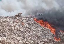 Tempat Pebuangan Akhir (TPA) Punggur, Nongsa hangus terbakar, Selasa (16/2/2021) siang.