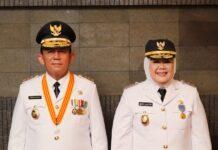 H. Ansar Ahmad SE., MM. dan Hj. Marlin Agustina
