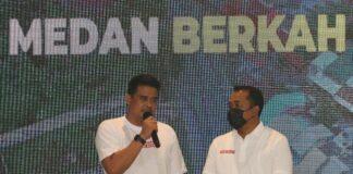 KPU akan menetapkan Bobby-Aulia sebagai wali kota dan wakil wali kota Medan pada Kamis (18/2). (Foto: ANTARA FOTO/Irsan Mulyadi)